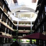 Inside hotel patio