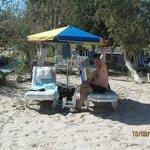 on tingaki beach opposite