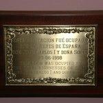1998, hotel bezocht door King Juan Carlos en Queen Sofia