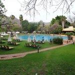 Cabanas pool area