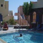 the pool at Syrigos Selini (Kamari, Santorini)