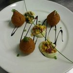 Goat cheese bonbons