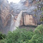 weeping rock-flash flood on right