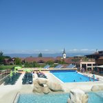 Great view of the mountains from the pool