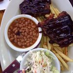 The baby back ribs with sauce that is to die for