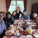 Kristeen & our breakfast