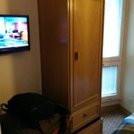 TV between door & closet