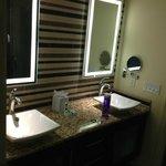 Enclaves double vanity bathroom.
