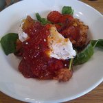 Corn fritters & poached egg