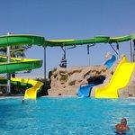Water slide at main pool