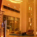 Huge massive lobby (have a bar in the corner) so enjoy ur drink :)