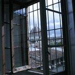 Palazzo Tolomei zicht uit het raam
