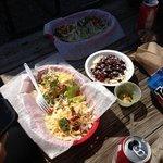 Blackened Shrimp Tacos, Rice & Beans