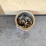 enjoy a heaping can of cigarette butts outside your nonsmoking room ! thanks Super 8 staff !!!