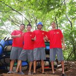 tour staff ready for white water tubing