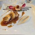 foie gras et volaille farçie