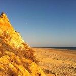 les falaises et la plage
