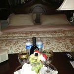 Second night - wine and fruit after a carriage ride thru the city!