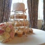 Reception room/ cake display
