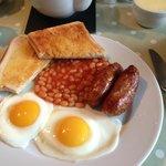 Estupendo desayuno recién hecho