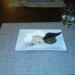 Cremoso de chocolate con cafe y mousse de mascarpone