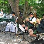 Bavarian band in the biergarten