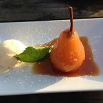 Poached pear desert