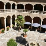Main courtyard and dining area