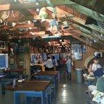 Fun boathouse dining