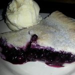 Out of this world homemade blueberry pie