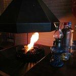 Restaurant Abrikoos: open fire