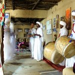 Hassan joined in the singing and dancing of the Gnawa people at the Khamlia village