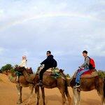 Rainbow in Sahara
