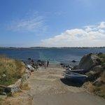 Stone jetty 50 metres away