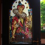 Stained glass on the door