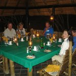 One night the dinner was here. Guests came from around the world and were mostly interesting fol
