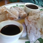 Zeppoli - Skip the chocolate sauce. Get the raspberry sauce.