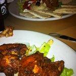 wings and hummus