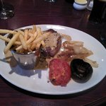 Rump steak with Peppercorn sauce