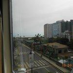 Vista da janela do apartamento em direção ao Oceano Pacífico