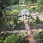 Rear garden and cemetary.