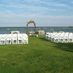 Wedding area on front lawn