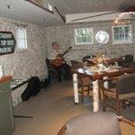 Inside of boat house