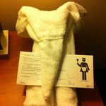 cute towel art