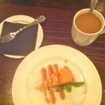 Pumpkin Cheesecake and coffee at the Capital Club 16