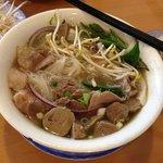 Beef combination & Meatballs noodle soup