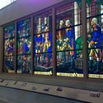 Stained glass windows in Education Center