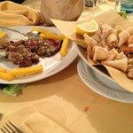 tagliata e fritto di mare