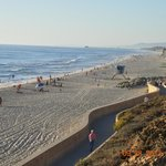 Carlsbad Beach about 6 miles from the Hotel..also you can bring your pet/dog to walk around ..