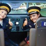 Kids role-playing as pilots at KidZania Mumbai
